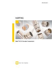 HARTING. Han R 23 Circular Connectors