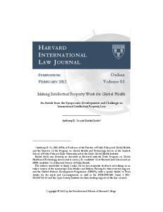 HARVARD INTERNATIONAL LAW JOURNAL