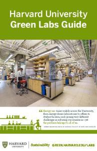 Harvard University Green Labs Guide