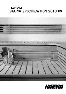 HARVIA SAUNA SPECIFICATION 2013