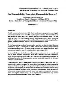 Has Economic Policy Uncertainty Hampered the Recovery?