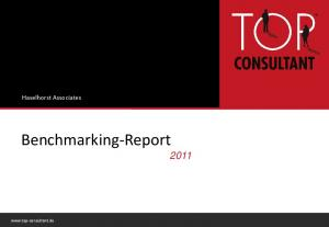 Haselhorst Associates. Benchmarking-Report