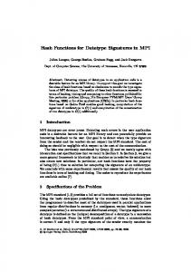 Hash Functions for Datatype Signatures in MPI