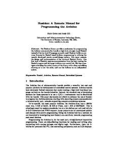 Haskino: A Remote Monad for Programming the Arduino