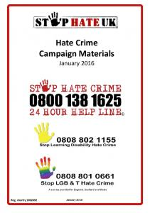 Hate Crime Campaign Materials