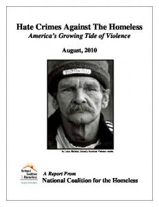 Hate Crimes Against The Homeless America s Growing Tide of Violence