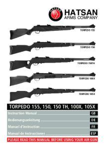 HATSAN TORPEDO 155, 150, 150 TH, 100X, 105X ARMS COMPANY