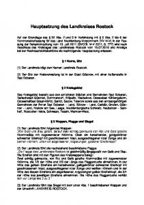 Hauptsatzung des Landkreises Rostock
