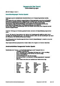 Hausgarantie Real Garant Garantiebedingungen