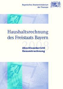 Haushaltsrechnung des Freistaats Bayern