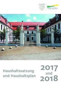 Haushaltssatzung und Haushaltsplan. und