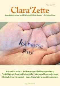 Hauszeitung Alters- und Pflegeheim Clara Dietiker - Stein am Rhein