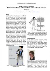 Haute Technology Laboratory: A Multidisciplinary Approach to Overcome Design Barriers in Wearable Technology