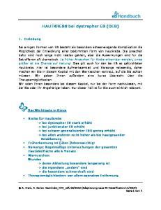 HAUTKREBS bei dystropher EB (DEB)