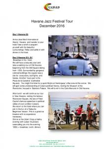 Havana Jazz Festival Tour December 2016
