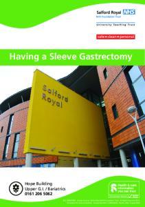 Having a Sleeve Gastrectomy