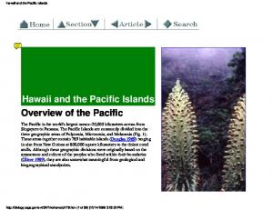 Hawaii and the Pacific Islands. Overview of the Pacific