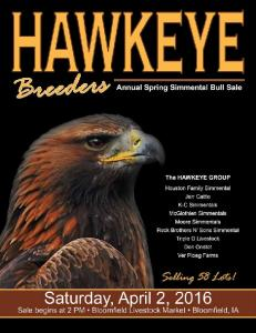 Hawkeye Simmental BREEDERS ANNUAL SPRING BULL SALE