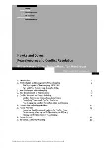 Hawks and Doves: Peacekeeping and Conflict Resolution