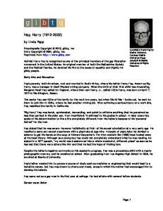 Hay, Harry ( )