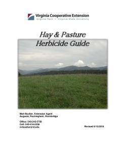 Hay & Pasture Herbicide Guide