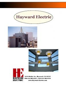 HAYWARD ELECTRIC COMPANY