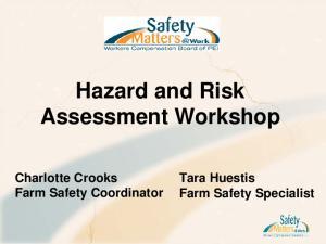 Hazard and Risk Assessment Workshop