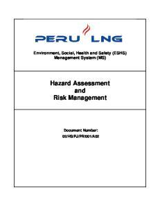 Hazard Assessment and Risk Management