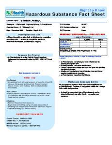 Hazardous Substance Fact Sheet