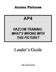 HAZCOM TRAINING: WHAT S WRONG WITH THIS PICTURE?