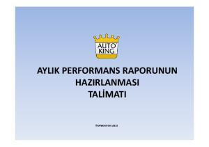 HAZIRLANMASI TALİMATIİ OPERASYON 2011