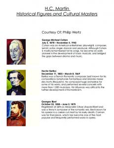 H.C. Martin Historical Figures and Cultural Masters