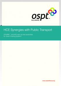 HCE Synergies with Public Transport