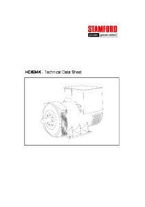 HCI634K - Technical Data Sheet