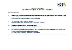 HCSA Peer Review Report Eagle High Plantations (EHP) PT. Varia Mitra Andalan (VMA)