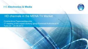HD channels in the MENA TV Market