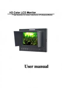 HD Color LCD Monitor 7