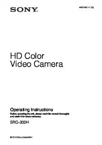 HD Color Video Camera