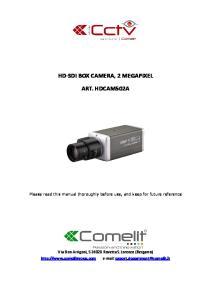 HD-SDI BOX CAMERA, 2 MEGAPIXEL ART. HDCAM502A