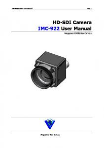 HD-SDI Camera IMC-922 User Manual