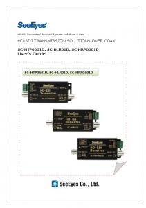HD-SDI TRANSMISSION SOLUTIONS OVER COAX