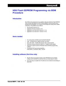 HD6 Flash EEPROM Programming via BDM Procedure