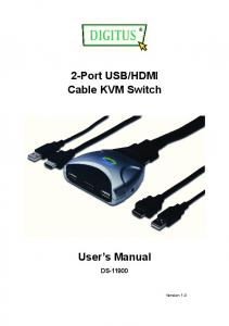 HDMI Cable KVM Switch