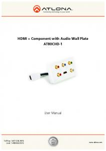 HDMI + Component with Audio Wall Plate AT80CHD-1