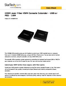 HDMI over Fiber KVM Console Extender - USB or PS2-1KM