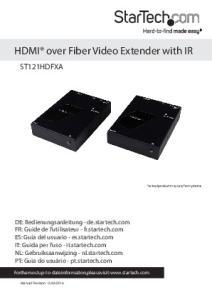 HDMI over Fiber Video Extender with IR
