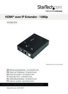 HDMI over IP Extender p