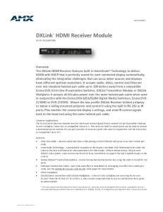 HDMI Receiver Module. DXLink DX-RX (FG )
