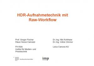 HDR-Aufnahmetechnik mit Raw-Workflow
