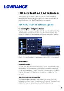 HDS Gen2 Touch 2.0 & 2.5 addendum
